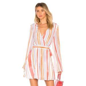 NEW L'Academie The Wrap Dress Multi Small D83